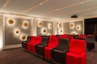 Seating area of hotel Mamas private cinema